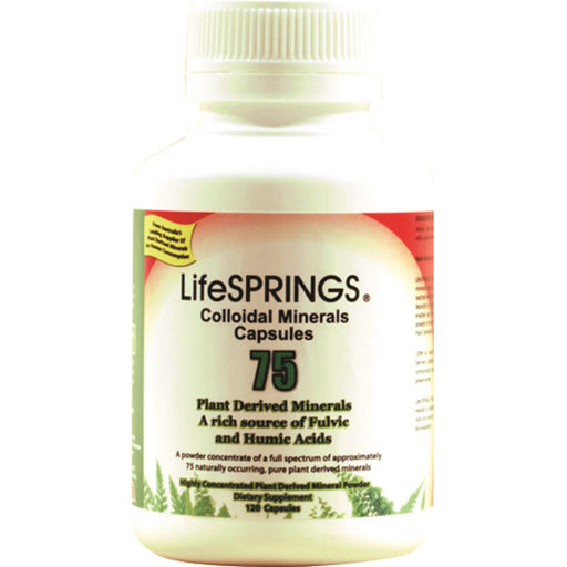 LifeSprings 75 Plant Derived Colloidal Minerals Capsules