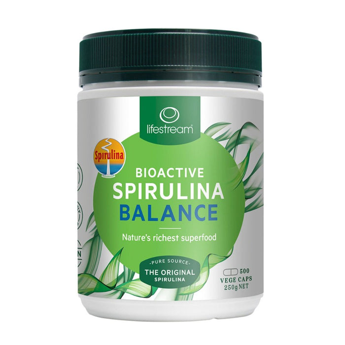 LifeStream Bioactive Spirulina Balance 500mg 500 Veg Caps