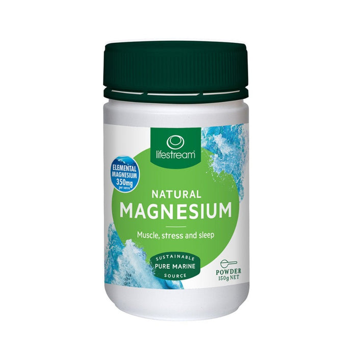 LifeStream Natural Magnesium - Pure Marine Source Powder