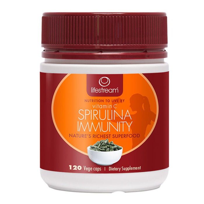 LifeStream Spirulina Immunity with Vitamin C 120 Veg Capsules