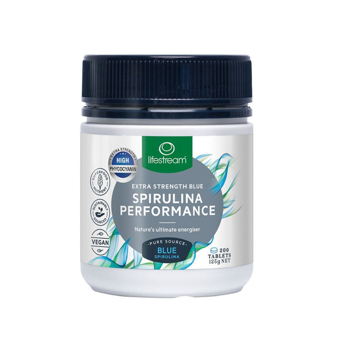 LifeStream Spirulina Performance - Extra Strength Blue 624mg 200 Tablets