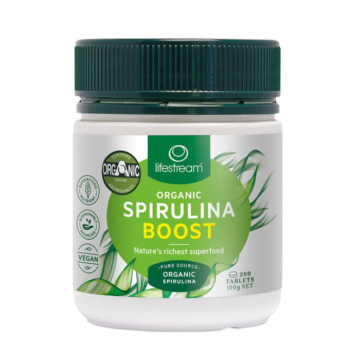 LifeStream Organic Spirulina Boost 500mg 200 Tablets