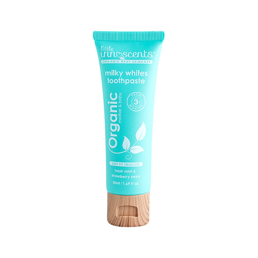 Little Innoscents mint & strawberry Organic Milky Whites Toothpaste