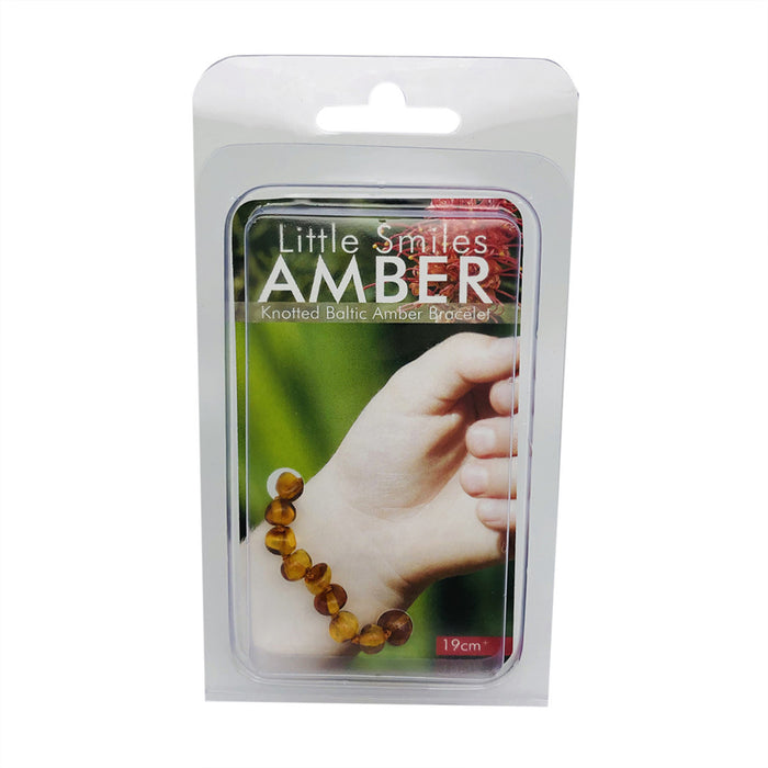 Little Smiles Amber Adult 19cm+ Brown Amber Bracelet