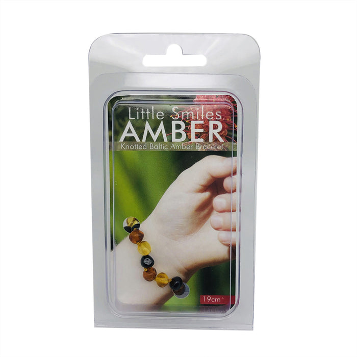Little Smiles Amber Adult 19cm+ Dark Multi Amber Bracelet