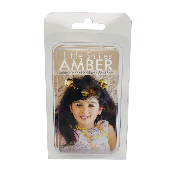Little Smiles Amber Kids Amber Dark Multi Necklace