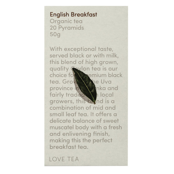 Love Tea Organic English Breakfast