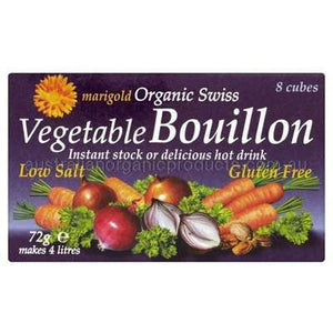 Marigold Organic Low Salt Vegetable Bouillon Cubes - 8 x 72gm
