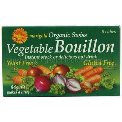 Marigold Organic Yeast Free Vegetable Bouillon Cubes - 8 x 84gm