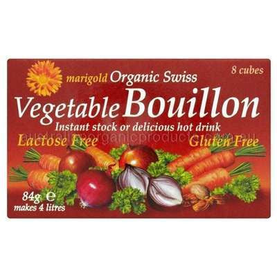 Marigold Organic Dairy Free Vegetable Bouillon Cubes - 8 x 84gm