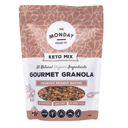 The Monday Food Co Keto Granola Crunchy Peanut Butter 300g