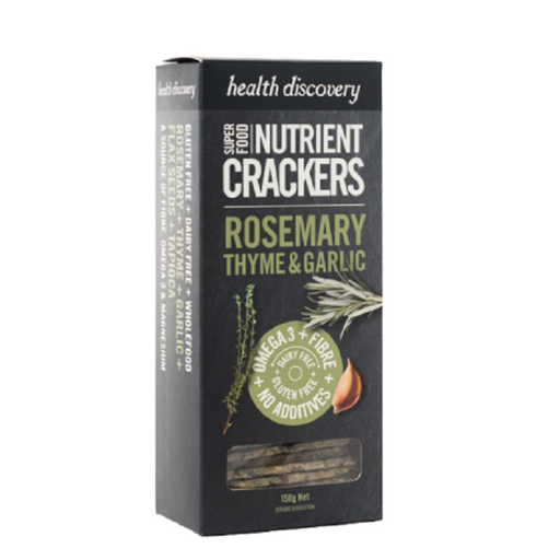 Health Discovery Rosemary, Thyme & Garlic Nutrient Crackers