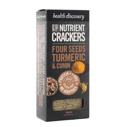 Health Discovery Paleo Four Seeds Turmeric, Cumin, Sumac Nutrient Crackers