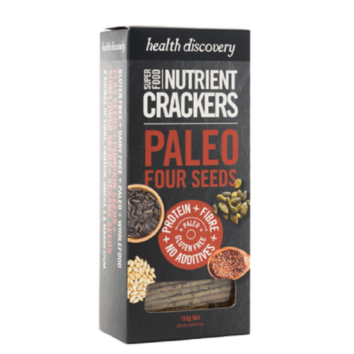 Health Discovery Paleo Four Seeds Nutrient Crackers