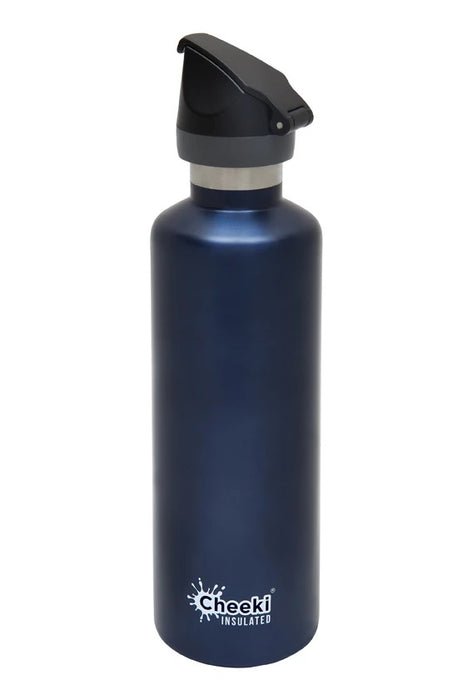 CHEEKI Stainless Steel Bottle - Sports Lid - 750ml Ocean