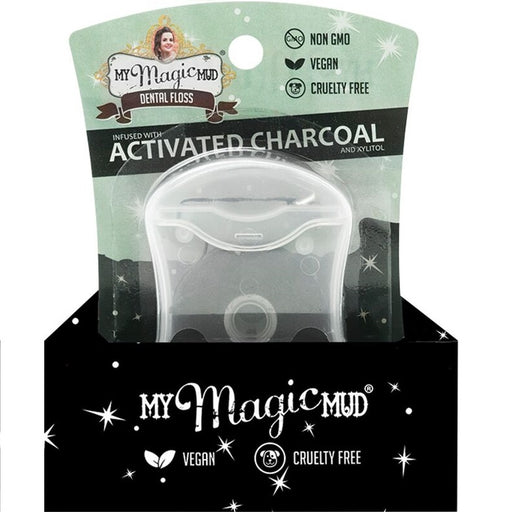 My Magic Mud Peppermint Dental Floss Infused With Activated Charcoal