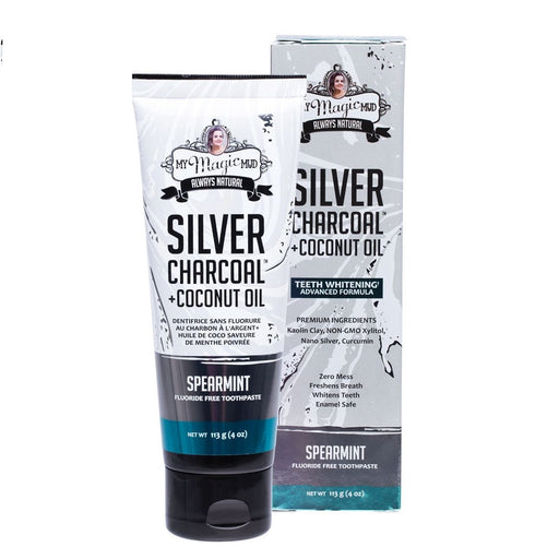 My Magic Mud Silver Charcoal Toothpaste With Coconut Oil - Spearmint