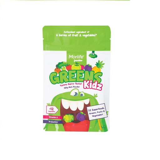 Morlife Greens Kidz Powder Yummy Berry