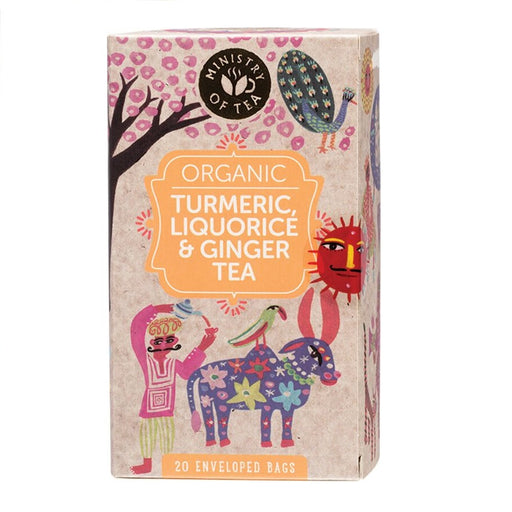 Ministry Of Tea Herbal Tea Bags Turmeric, Liquorice & Ginger Tea