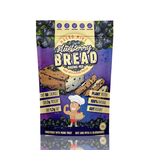 MACRO MIKE Almond Protein Bread Baking Mix Blueberry Bread - 300g