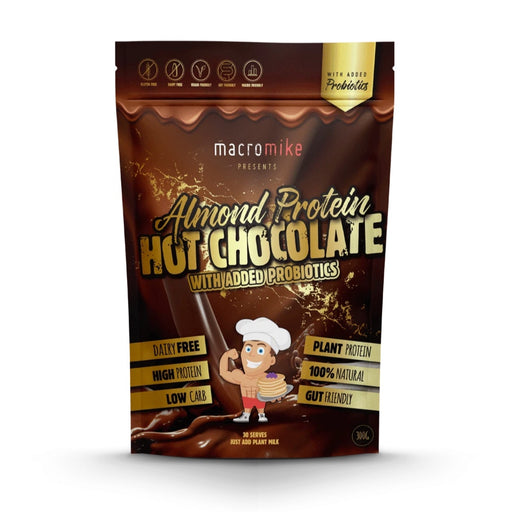 MACRO MIKE Protein Hot Chocolate - Almond With Added Probiotics - 300g
