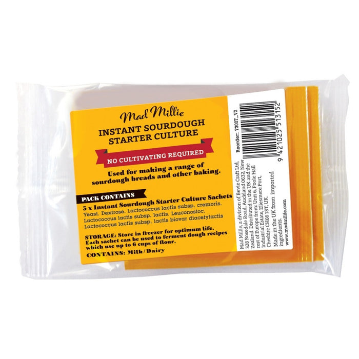 Mad Millie Instant Sourdough Starter Culture Sachet 2.7g