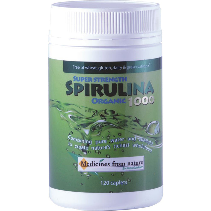 Medicines From Nature Super Strength Spirulina Organic 1000 120c