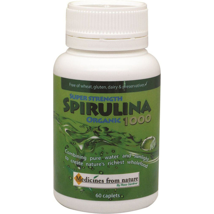 Medicines From Nature Super Strength Spirulina Organic 1000 60c