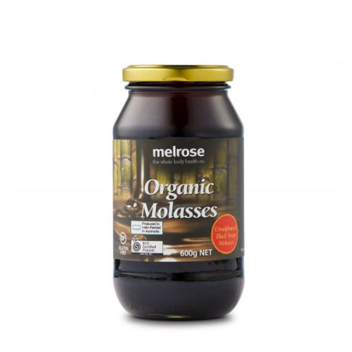 MELROSE Organic Molasses Blackstrap & Unsulphured 600g glass jar