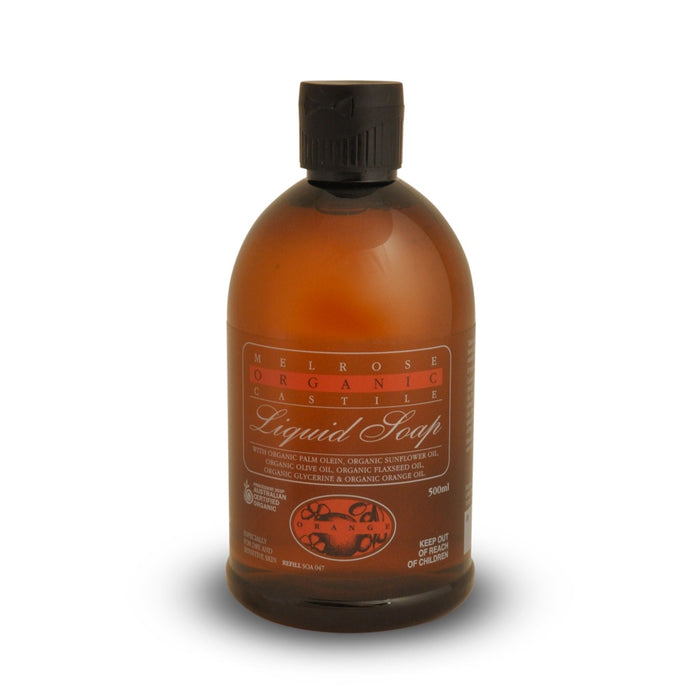 Melrose Organic Castile Orange Liquid Soap Refill - 500ml