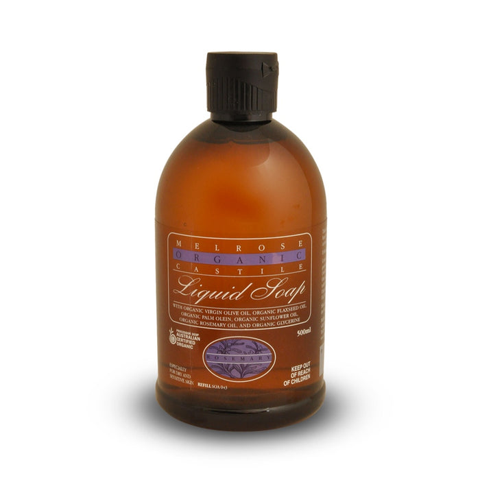 Melrose Organic Castile Rosemary Liquid Soap Refill - 500ml