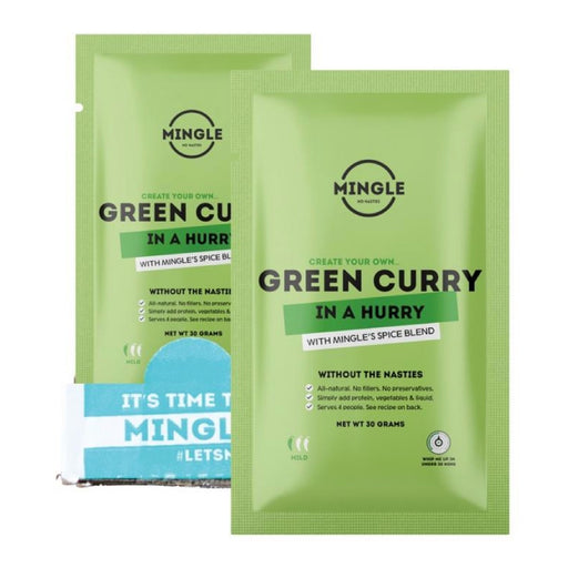 MINGLE Natural Seasoning Blend Green Curry - 12x30g