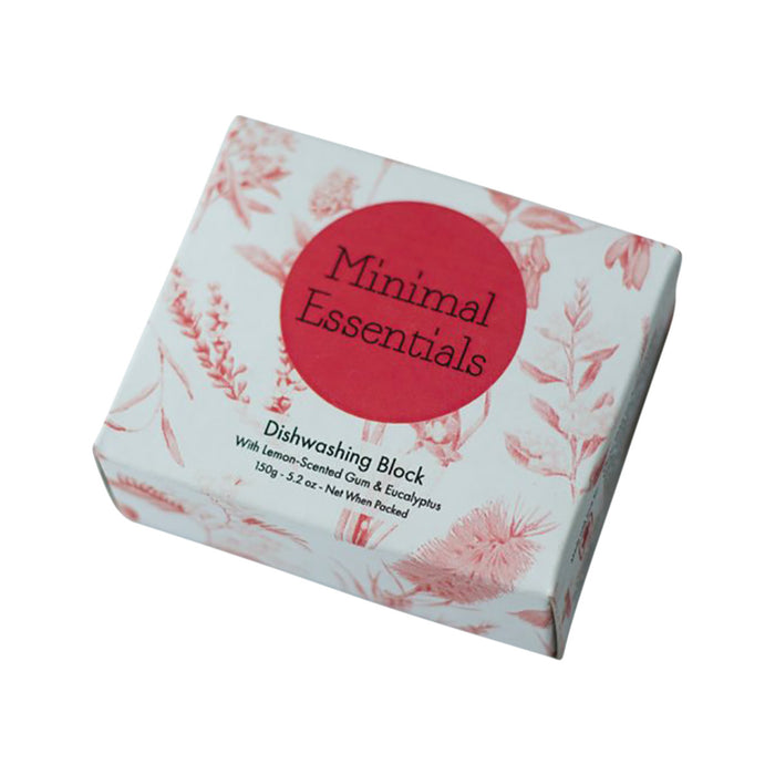 Minimal Essentials Dishwashing Block with Lemon Scented Gum & Eucalyptus 150g
