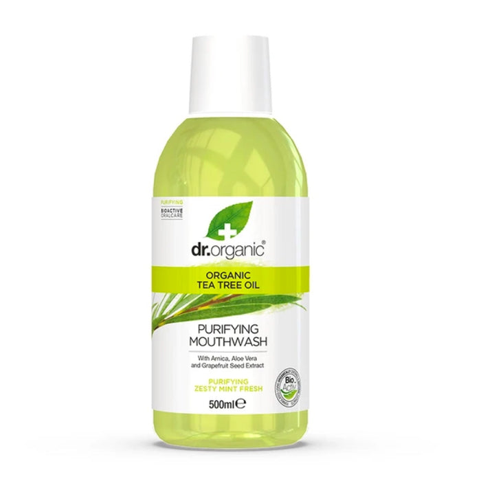 DR ORGANIC Mouthwash Tea Tree 500ml