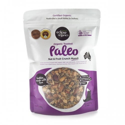 ECLIPSE ORGANICS Organic Toasted Paleo Nut & Fruit Crunch Muesli