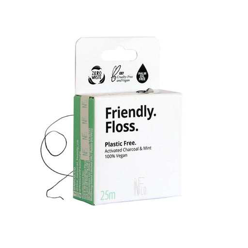 NFCO. Friendly Floss (Dental Floss) Activated Charcoal & Mint - 25m