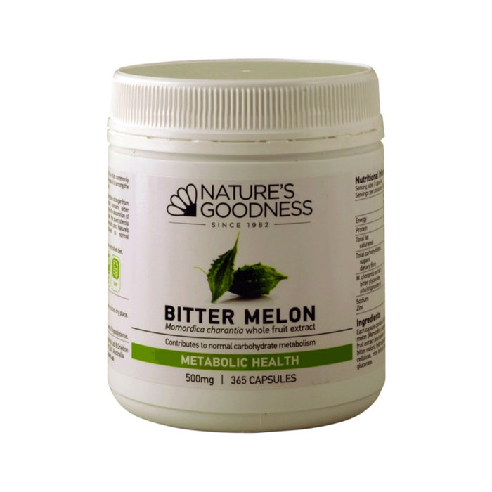 Nature's Goodness Bitter Melon Capsules 500mg 365c