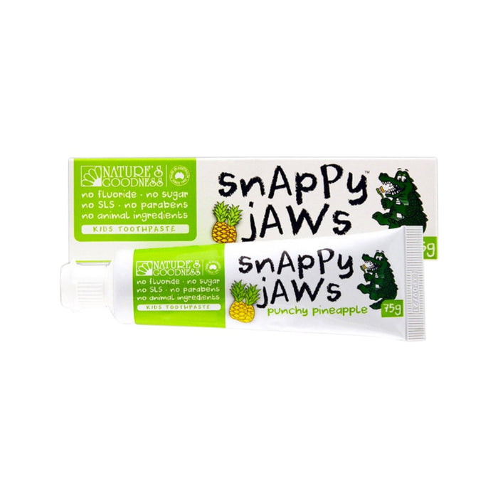Nature's Goodness Snappy Jaws Toothpaste Punchy Pineapple 75g