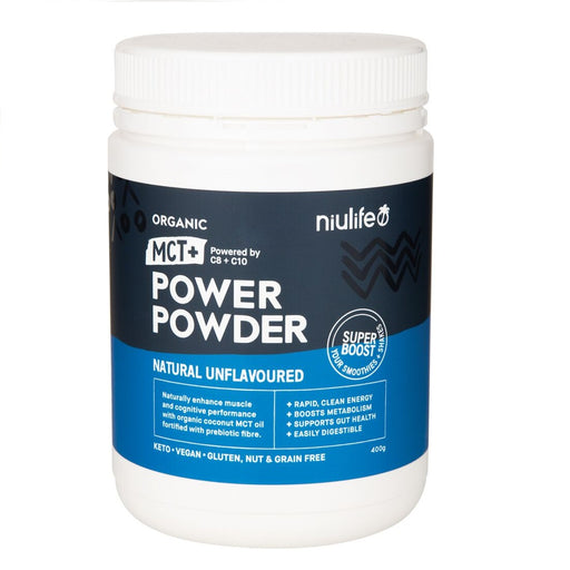 Niulife Organic MCT+ Power Powder - 400g Natural unflavoured