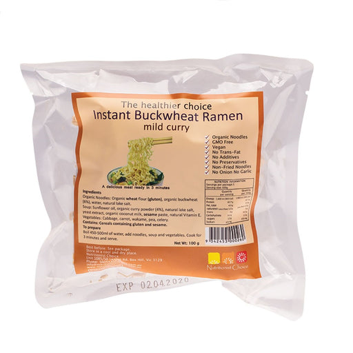 Nutritionist Choice Instant Buckwheat Mild Curry Ramen