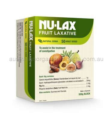 Nulax Block 500g Organic Fruit Laxative