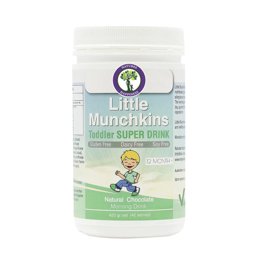 Natures Happiness Little Munchkins Toddler Super Drink Morning Chocolate Drink 420g