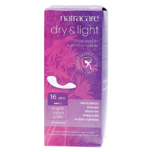 NATRACARE Organic Incontinence Pads Dry & Light Plus 16 Pads