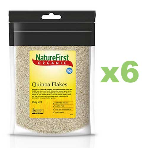 NATURE FIRST Organic Quinoa Flakes 250g x6 BULK