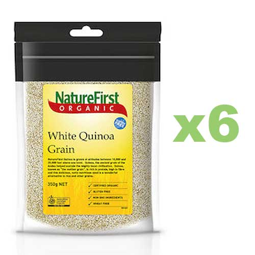 NATURE FIRST Organic Quinoa White 350g x6 BULK
