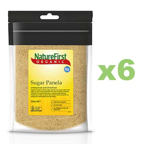NATURE FIRST Organic Sugar Panela 500g x6 BULK