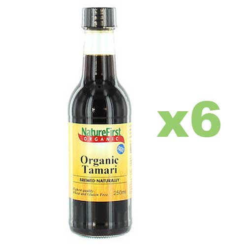 NATURE FIRST Organic Tamari Soy Sauce 250ml x6 BULK