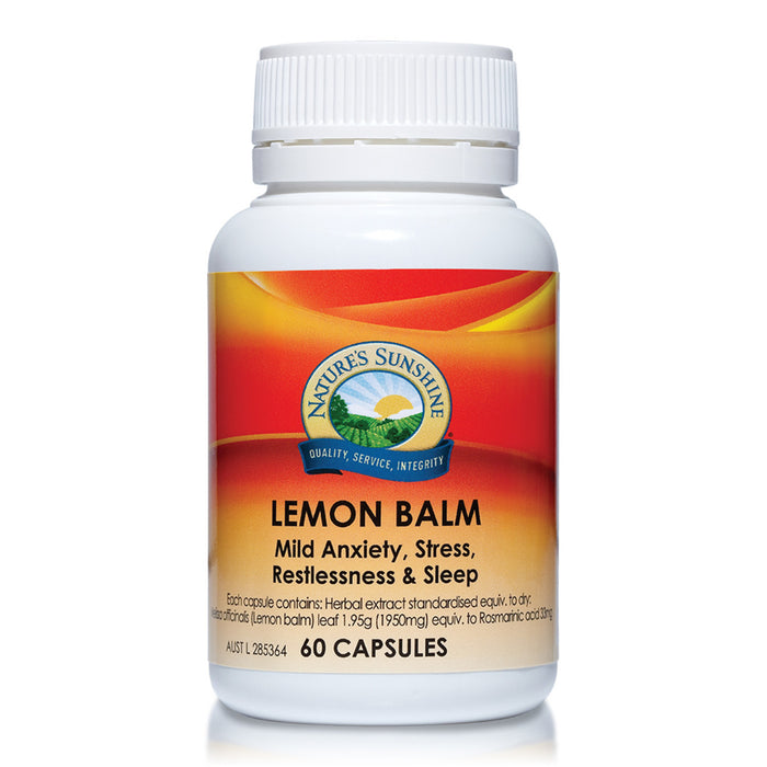 Nature's Sunshine Lemon Balm 1.95g 60c