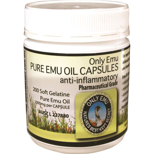 Only Emu Pure Emu Oil 1000mg 200c