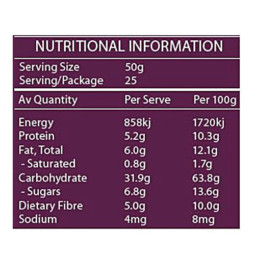 Real Good Food Organic Bircher Muesli (Bag) 1.25kg Info